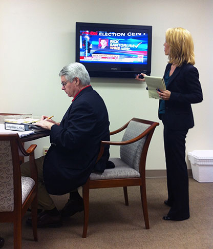 Judge King with Dana Bash